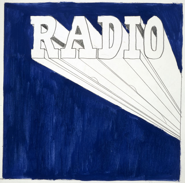 Ed Ruscha. Radio, 1962. Drawing, pencil and acrylic on paper, 24 x 27.2 cm. Collection: Scottish National Gallery of Modern Art, presented by the artist through the Art Fund, 2005. © Ed Ruscha.