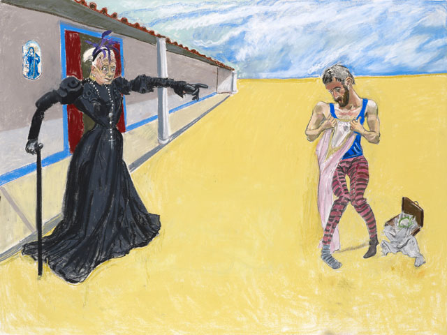 Paula Rego. Get Out of Here You and Your Filth, 2013. Pastel on paper. Courtesy Marlborough Fine Art.