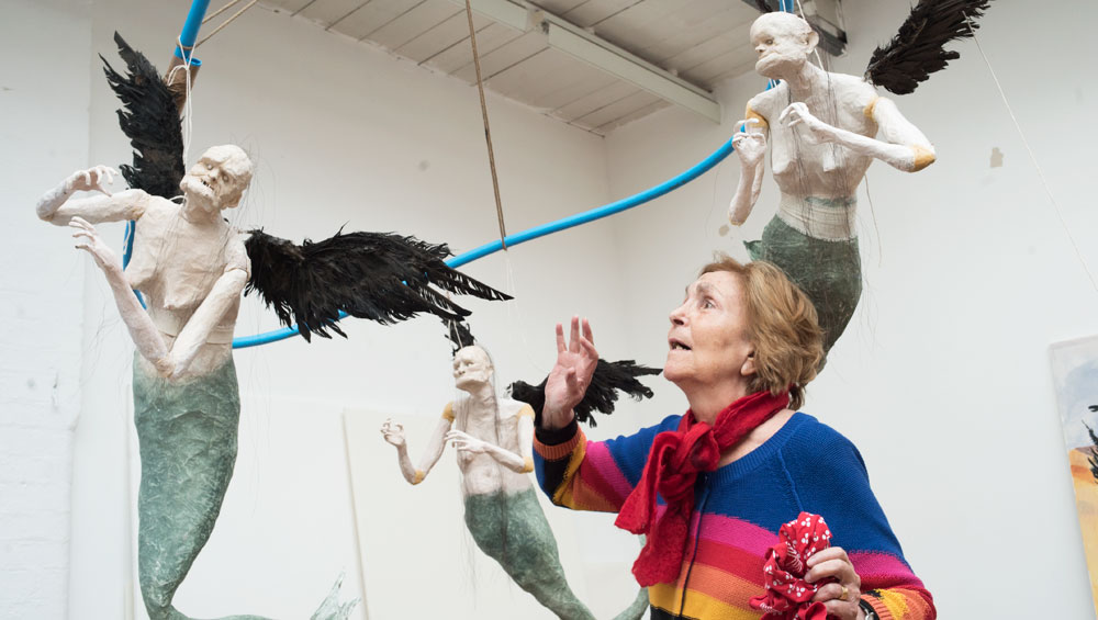 Consummate storyteller Paula Rego brings her cast of mermaids and misfits to a town that seems forged from her own imagination