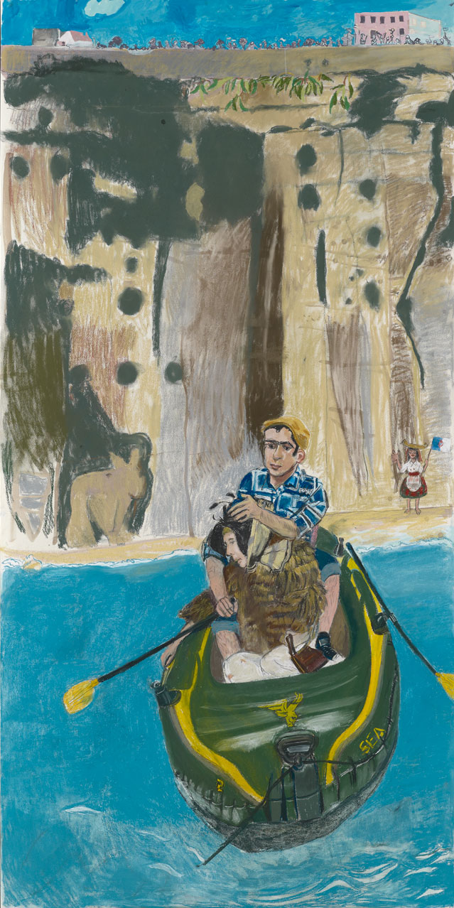 Paula Rego. Rowing from Ericeira, 2014. Courtesy Marlborough Fine Art.