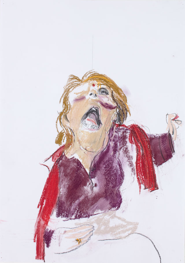 Paula Rego. Self Portrait III, 2007. Pastel on paper. Marlborough Fine Art, London.