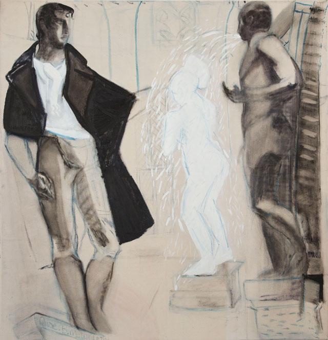 Carole Robb. Showers with Heroes – Byron. Oil on canvas, 152 x 147 cm. Courtesy Acme Artist Studios.