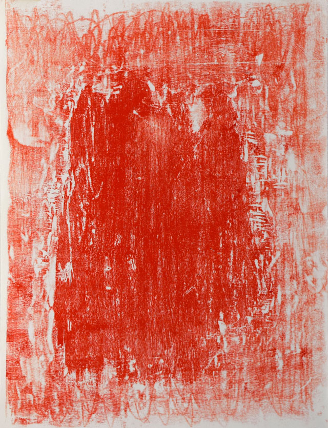 Christopher Le Brun. SL2 P67. Unique woodcut, 80 x 60 cm. © The artist. Photograph: Joseph Goody.
