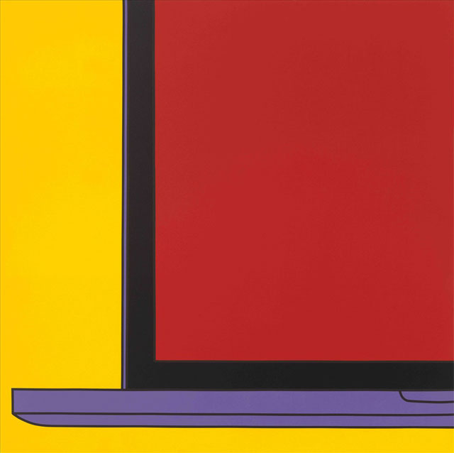 Michael Craig-Martin. Untitled (Yellow Laptop Fragment). Acrylic on aluminium.