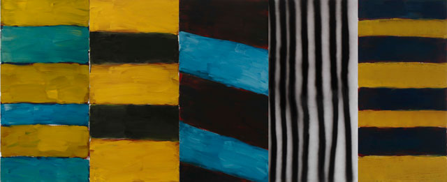 Sean Scully. Full House. Oil and acrylic spray on aluminium,