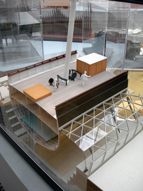 Nicholas Grimshaw. Sectional model for <em>Cutty Sark Conservation Project</em> (detail).