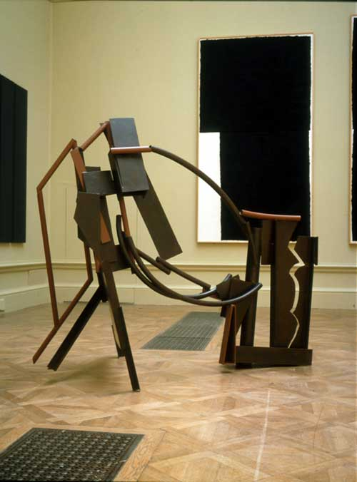 Sir Anthony Caro OM CBE RA, <i>Emma Scribble</i>. Steel 204 cm