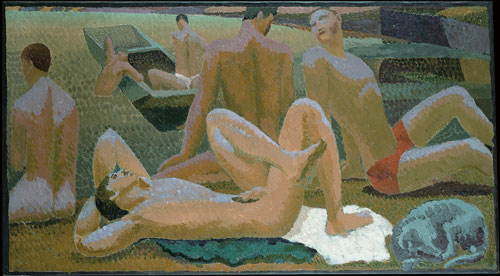 Duncan Grant. <em>Bathers by the Pond</em> (c1920-21). Pallant House Gallery, Chichester (Hussey Bequest, Chichester District Council,1985). &copy; 1978 Estate of Duncan Grant, courtesy Henrietta Garnett.