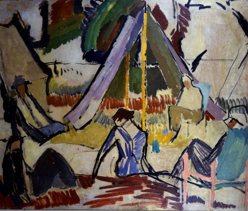 Vanessa Bell. <em>Summer Camp</em>, 1913. Bryan Ferry Collection. &copy; Estate of Vanessa Bell, courtesy Henrietta Garnett.