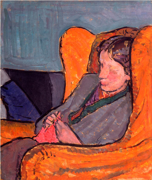 Vanessa Bell. <em>Virginia Woolf (n&eacute;e Stephen)</em>, 1912. Lent by the National Portrait Gallery, London. Purchased with help from The Art Fund, 1987. &copy; National Portrait Gallery, London.
