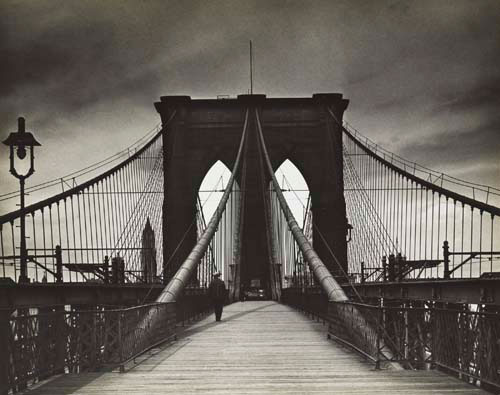 Alexander Alland. <em>Untitled (Brooklyn Bridge)</em>, 1938. Gelatin silver print. The Jewish Museum, New York, Purchase: William and Jane Schloss Family Foundation Fund. © Estate of Alexander Alland, Sr.