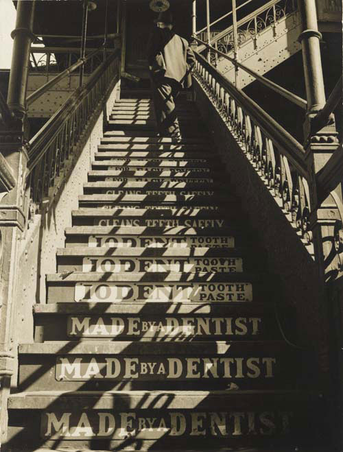 Eliot Elisofon. <em>Untitled (Iodent Toothpaste Ads)</em>, c1937. Gelatin silver print. The Jewish Museum, New York, Purchase: Mimi and Barry J. Alperin Fund.