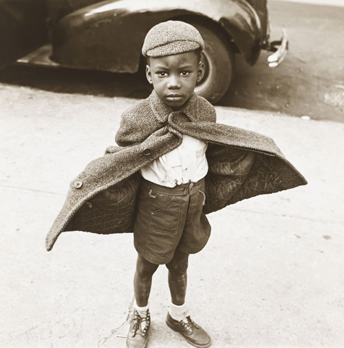 Jerome Liebling. <em>Butterfly Boy, New York</em>, 1949. Gelatin silver print. The Jewish Museum, New York, Purchase: Mimi and Barry J. Alperin Fund. © Estate of Jerome Liebling.