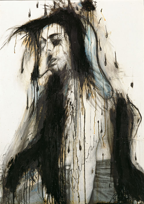 Arnulf Rainer. Black Streaks, 1974. © the artist. Courtesy Albertina Museum, Vienna.