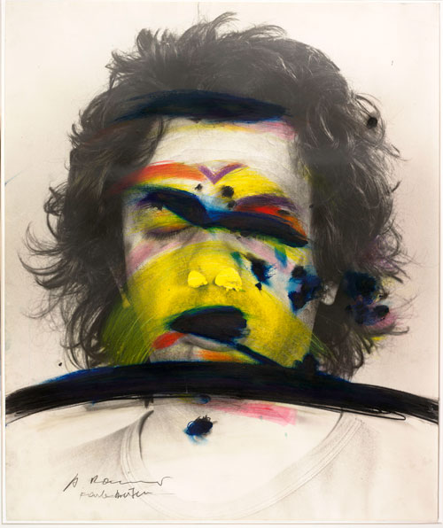 Arnulf Rainer. Face Farces: Color Stripes, 1972. © the artist. Courtesy Albertina Museum, Vienna.