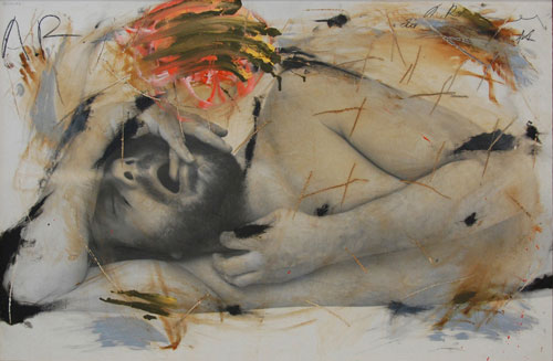 Arnulf Rainer. Sleep, 1973-74. © the artist. Courtesy Albertina Museum, Vienna.