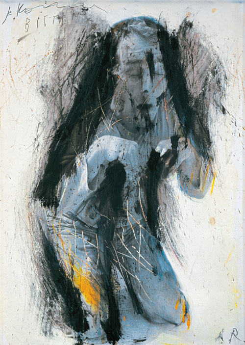 Arnulf Rainer. Supplication (Kneeling), 1973-75. © the artist. Courtesy Albertina Museum, Vienna.