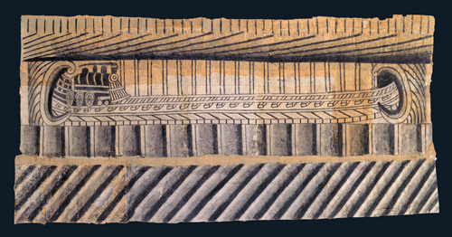 Martín Ramírez <em>Untitled (Train)</em> c. 1948-1963 pencil and crayon on pieced papers 22-1/2 x 47 in Collection American Folk Art Museum, New York; gift of Herbert Waide Hemphill, Jr. Photo credit: Gavin Ashworth