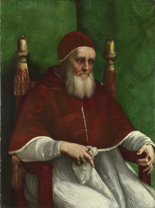 Raphael (1483-1520), <i>Portrait of Pope Julius II</i>, mid 1511 oil 