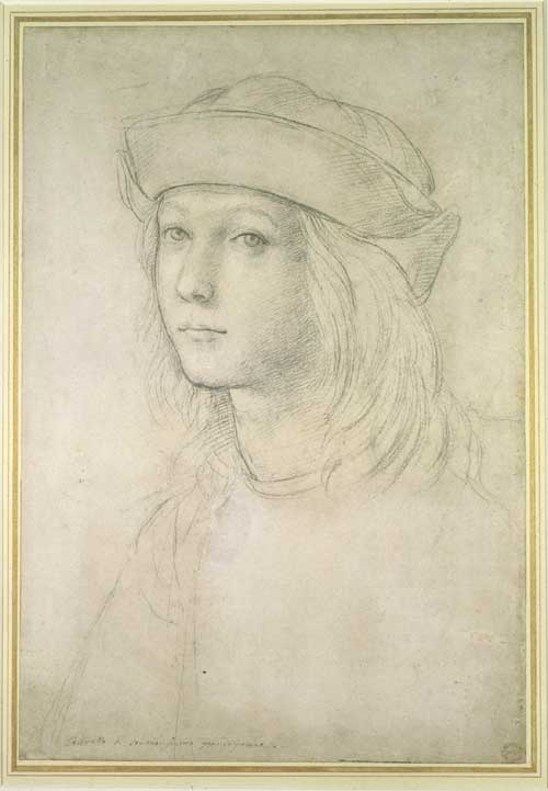 Raphael, <i>Self Portrait</i>, about 1504 Ashmolean Museum, Oxford P 