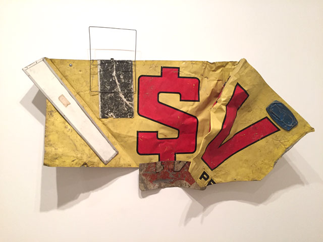 Robert Rauschenberg. Glut Data, 1986. Riveted metal parts, 108 x 231.1 x 45.7 cm. Robert Rauschenberg Foundation, New York. Photograph: Martin Kennedy.