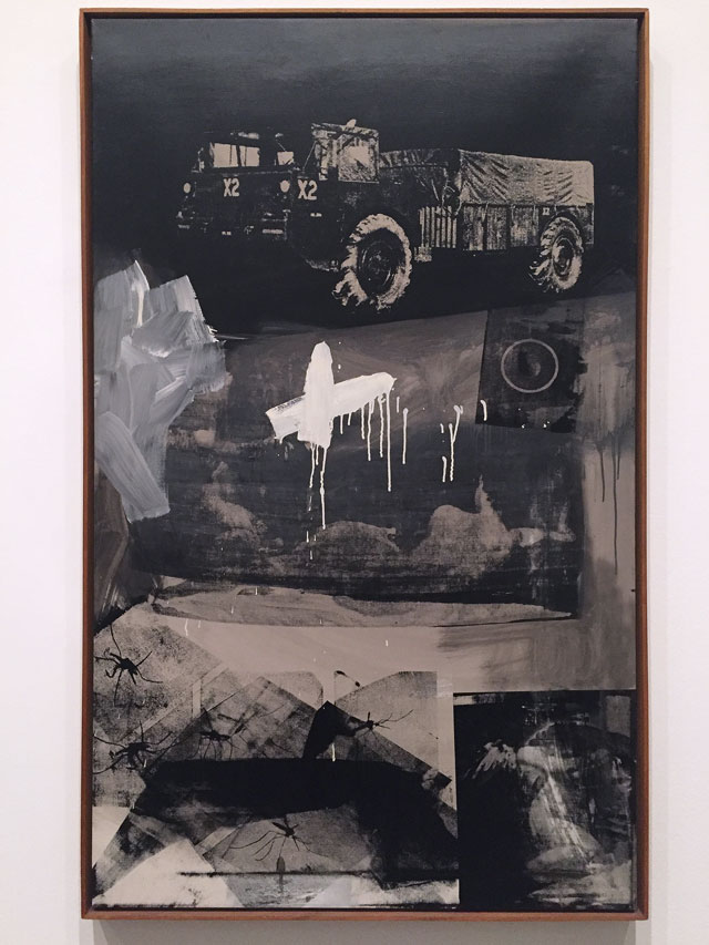 Robert Rauschenberg. Crocus, 1962. Oil paint and silkscreen ink on canvas