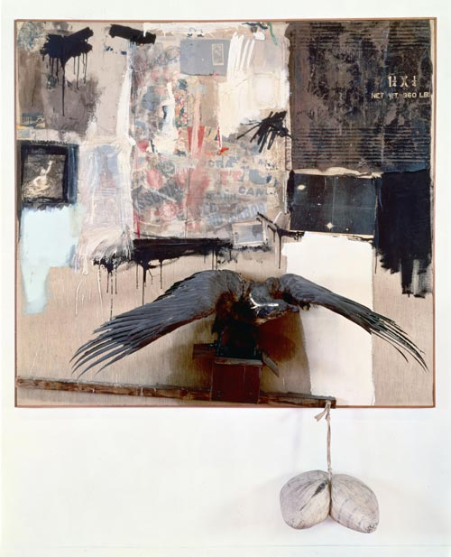 Robert Rauschenberg, <em>Canyon</em>, 1959. Collection Sonnabend, New York © Robert Rauschenberg / Adagp, Paris, 2006