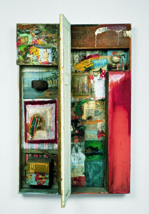 Robert Rauschenberg, <em>Interview</em>, 1955. Musée d'Art Contemporain de Los Angeles (MOCA), Collection Panza © Robert Rauschenberg / Adagp, Paris, 2006