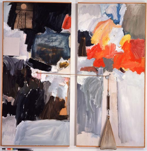 Robert Rauschenberg, <em>Studio Painting</em>, 1960-61. Collection Michael Crichton, Los Angeles © Robert Rauschenberg / Adagp, Paris, 2006