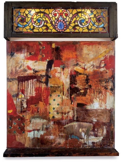 Robert Rauschenberg, <em>Untitled</em> (Stain Glass), 1954. Collection privée, Paris © Robert Rauschenberg / Adagp, Paris, 2006