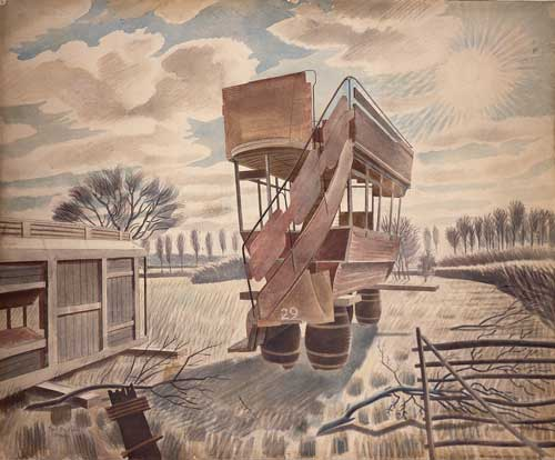 Eric Ravilious, No 29 Bus, 1934. Reproduced by kind permission of the Towner 
