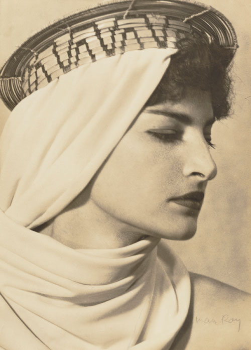 Man Ray. Juliet with Brazilian Headdress, 1945. The J. Paul Getty Museum, Los Angeles.