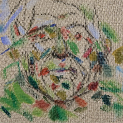 RB Kitaj. <em>Self-Portrait</em>, 2007.          Oil on canvas,         30.5 x 30.5 cm.        Courtesy Marlborough Gallery, New York.