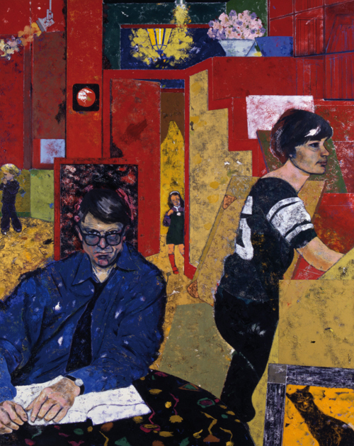 RB Kitaj. <em>The Architects</em>, 1981.          Oil on canvas,          153 x 122.2 cm.        Pallant House Gallery, Chichester. (Wilson loan).
