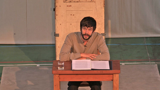 Ben Whishaw reading De Profundis in Reading Prison. Courtesy of Artangel.
