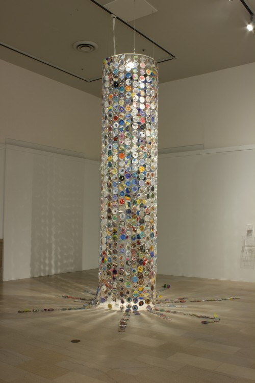 Jim Toia. The Petri Island Project, 2010–ongoing. Plastic petri dishes and mixed media. Dimensions variable.
