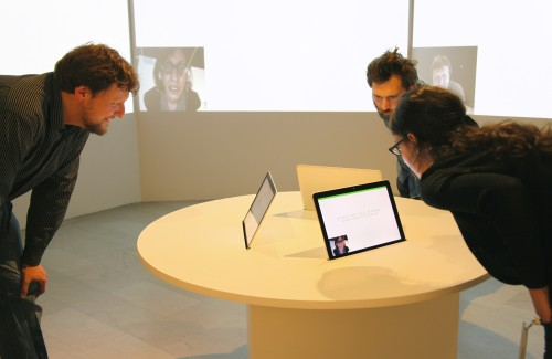 Yucef Merhi. Facial Poetry, 2014. Custom-made software and computers. Dimensions variable.