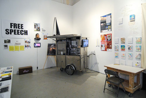 The Real Estate Show, What Next: 2014. Insallation view (2). Cuchifritos Gallery + Project Space, New York 2014.