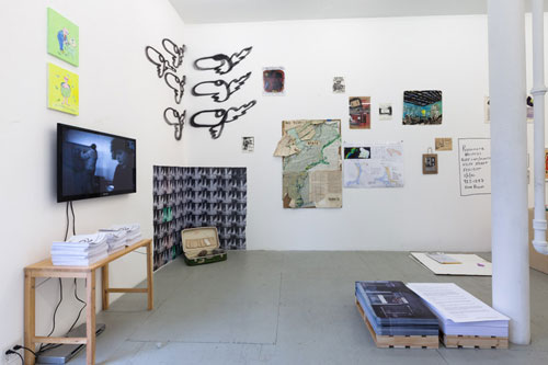 The Real Estate Show Revisited, installation view (2). James Fuentes, New York City.