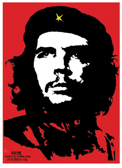 <p>The original 1968 stylized image of Che Guevara created by Jim Fitzpatrick.