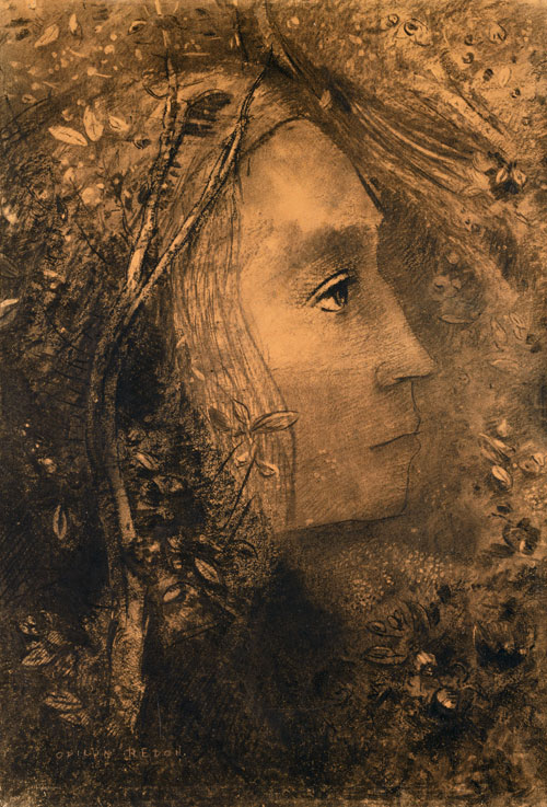 Odilon Redon. Spring, 1883. Charcoal, chalk, and pastel on paper, 53.3 x 37.1 cm. Jean Bonna Collection, Geneva. Photograph: Patrick Goetelen, Geneva.