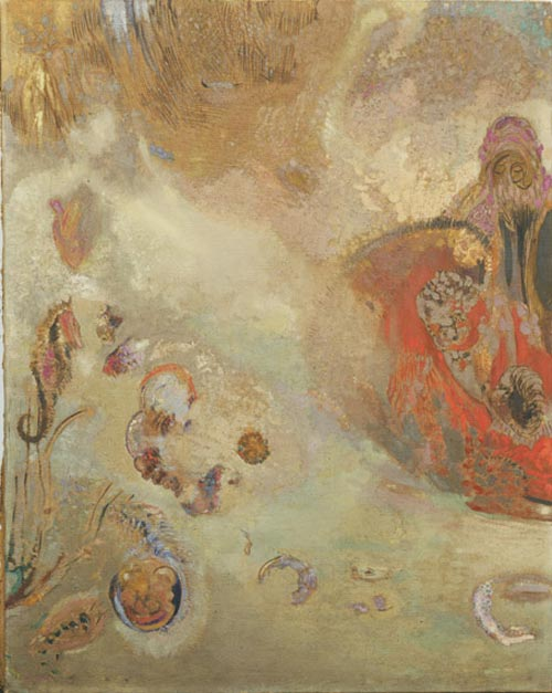 Odilon Redon. <em>Underwater Vision</em> c. 1910. Oil on canvas 36 3/4 x 29 1/4 in. The Musuem of Modern Art, New York, Gift of the Ian Woodner Family Collection, 2000.