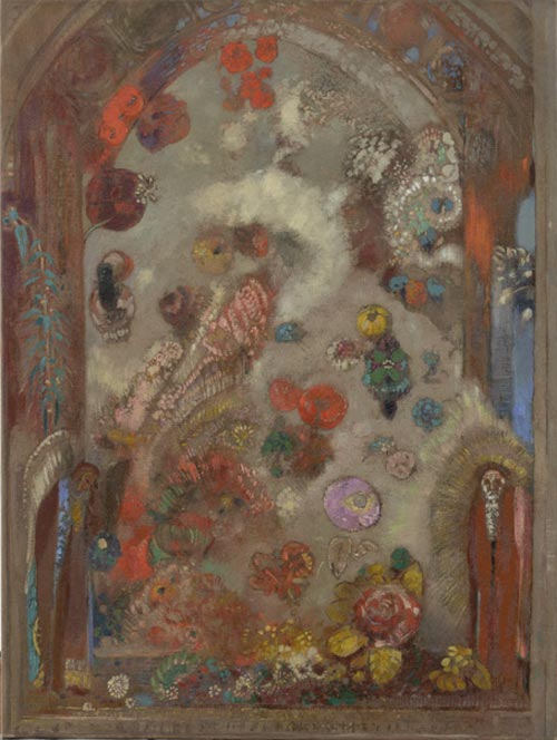 Odilon Redon. <em>The Window</em> c. 1907. Oil on canvas 31 7/8 x 24 1/8 in. The Musuem of Modern Art, New York, Gift of the Ian Woodner Family Collection, 2000.