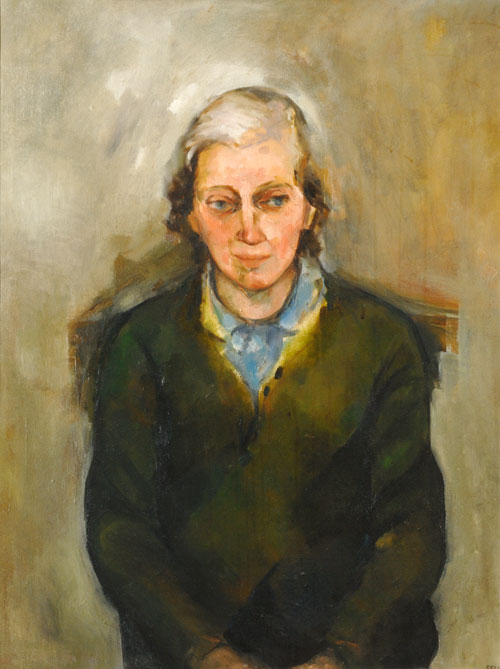 Sheila Fell. Dorothy Hodgkin (1910-94), Fellow and Member of Council (1936), Professorial Fellow, Nobel Prize, OM, 1962. Oil on canvas, On loan from Somerville College, Oxford with permission of the Principal and Fellows. © Estate of the Artist.