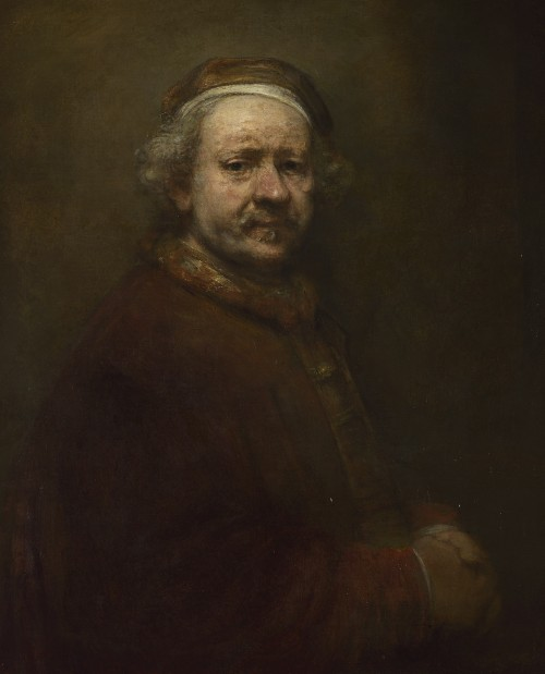 Rembrandt. Self portrait at the age of 63, 1669. Oil on canvas, 86 x 70.5 cm. © The National Gallery, London.