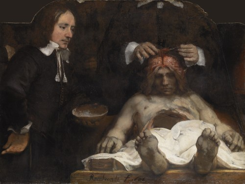 Rembrandt. The Anatomy Lesson of Dr Joan Deyman, 1656. Oil on canvas, 100 x 134 cm. © Amsterdam Museum.