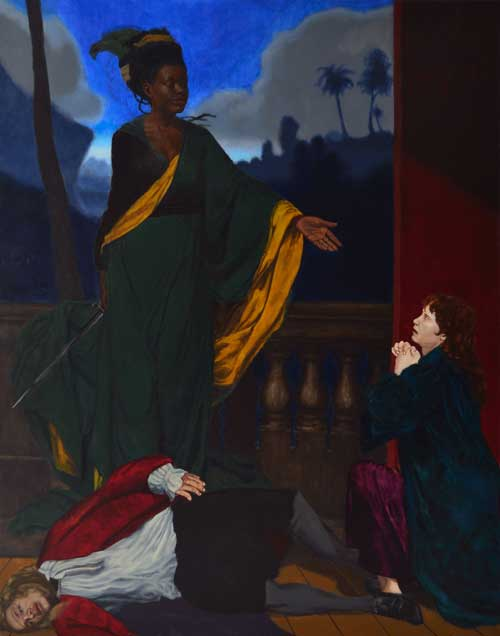 Kimathi Donkor. Nanny's fifth act of mercy, 2012. Oil on canvas 165 x 201 cm. Copyright the artist.