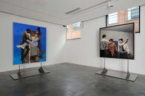 Kimathi Donkor. Installation view of Queens of the Undead PS2, Iniva at Rivington Place, 2012. Copyright the artist. Photo by Thierry Bal.