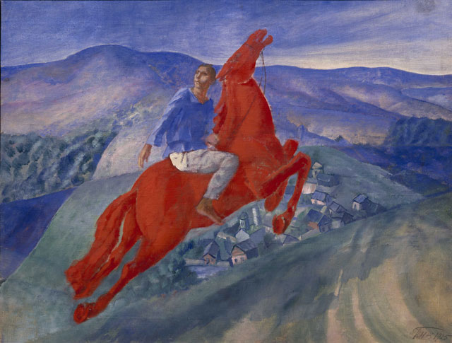 Kuzma Petrov-Vodkin. Fantasy, 1925. Oil on canvas, 50 x 64.5 cm. State Russian Museum, St. Petersburg. Photograph: © 2016, State Russian Museum, St. Petersburg.