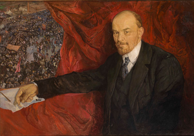 Isaak Brodsky. V.I.Lenin and Manifestation, 1919. Oil on canvas, 90 x 135 cm. The State Historical Museum. Photograph: © Provided with assistance from the State Museum and Exhibition Center ROSIZO.